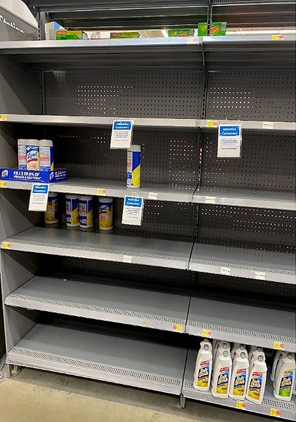 Shortages of supplies