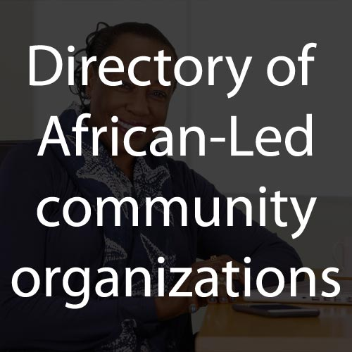 Directory of African-led Community Organizations